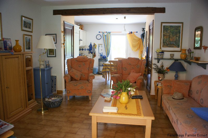 Wohnzimmer - Ferienhaus in Cavalaire Südfrankreich